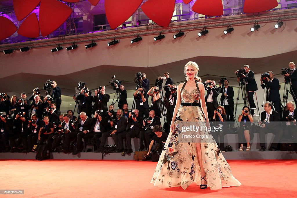 Naomi Watts attends the premiere of 'The Bleeder' during the 73rd Venice Film Festival at Sala Grande on September 2, 2016 in Venice, Italy.