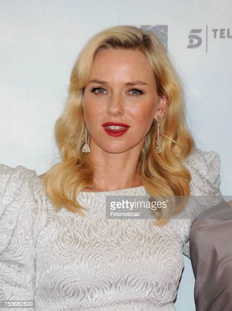 Naomi Watts attends the premiere of 'The Impossible' at Kinepolis cinema on October 8 2012 in Madrid Spain
