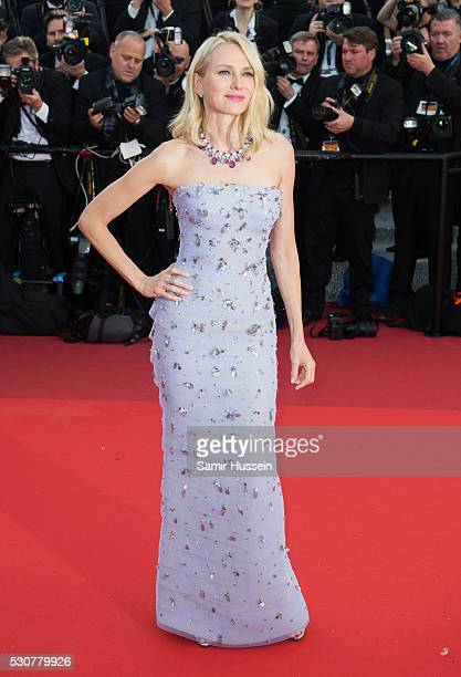 Naomi Watts attends the screening of 'Cafe Society' at the opening gala of the annual 69th Cannes Film Festival at Palais des Festivals on May 11...