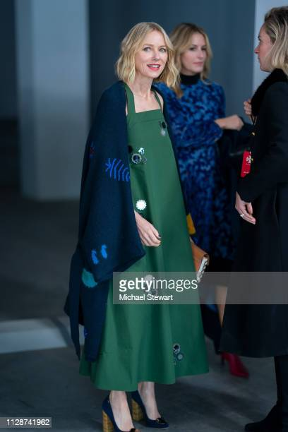 Naomi Watts attends the Tory Burch Fall Winter 2019 Fashion Show at Pier 17 on February 10 2019 in New York City