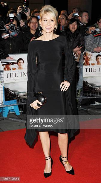 Naomi Watts attends the UK charity premiere of 'The Impossible' at BFI IMAX on November 19 2012 in London England