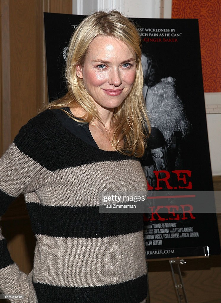 Naomi Watts attends'Beware Of Mr. Baker' New York Screening at Crosby Street Hotel on November 27, 2012 in New York City.