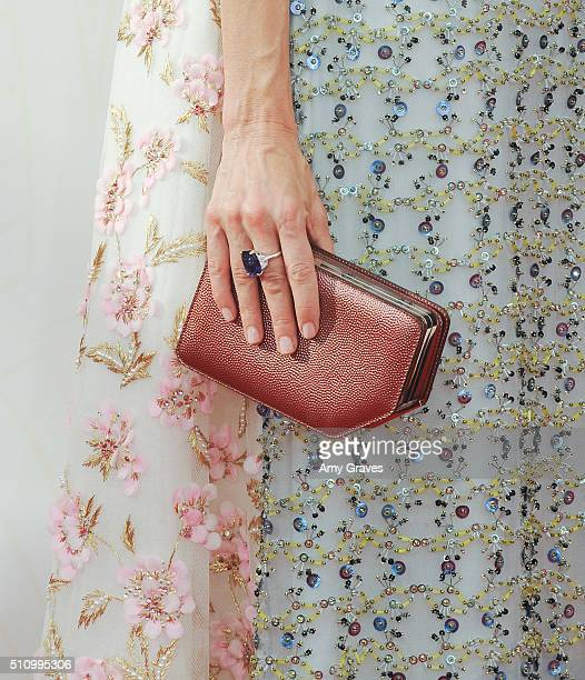 Naomi Watts bag detail attends the 67th Annual Primetime Emmy Awards on September 20 2015 in Los Angeles California