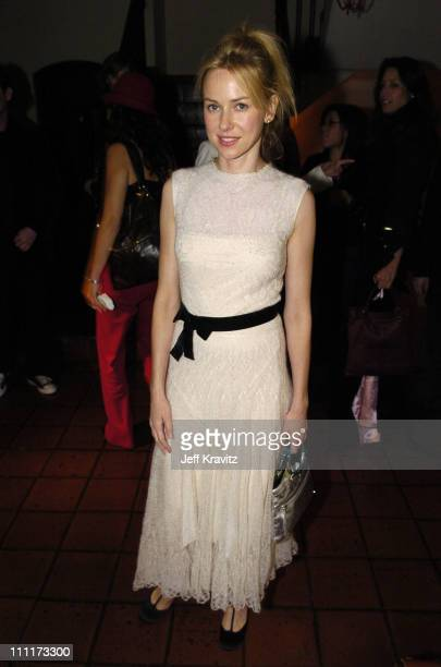 Naomi Watts during 2005 HBO PreGolden Globe Awards Party in Los Angeles California United States