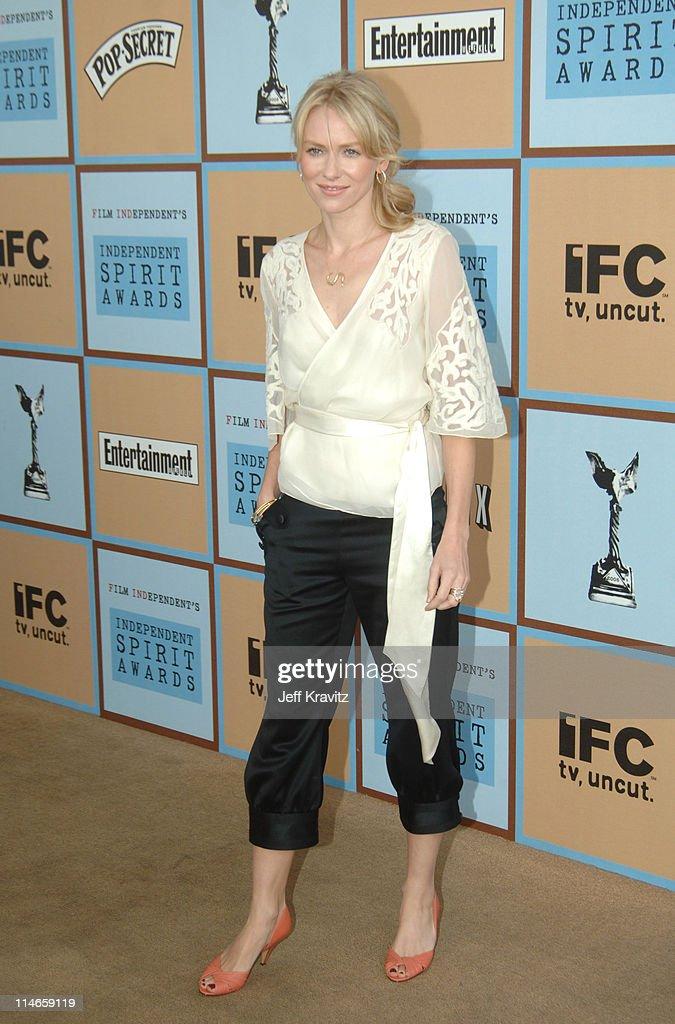 Naomi Watts during Film Independent's 2006 Independent Spirit Awards - Arrivals in Santa Monica, California, United States.