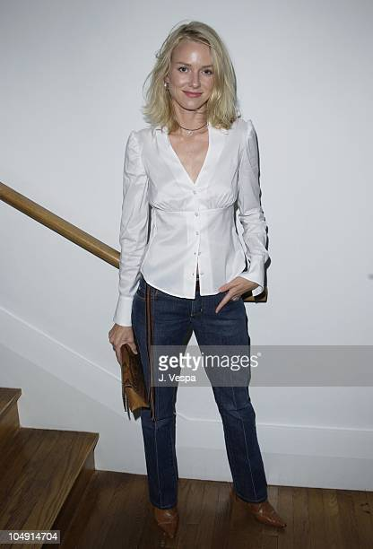 Naomi Watts during Toronto 2001 Movieline's 13 Conversations About One Thing Party at Club Monaco in Toronto Canada