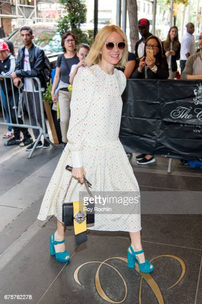 Naomi Watts is seen arriving at the Carlyle Hotel to prepare for the 'Rei Kawakubo/Comme des Garcons Art Of The InBetween' Costume Institute Gala on...