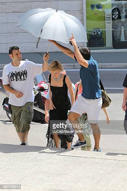 Naomi Watts is seen as she arriving on the set of 'Diana' on July 03 2012 in Zagreb Croatia
