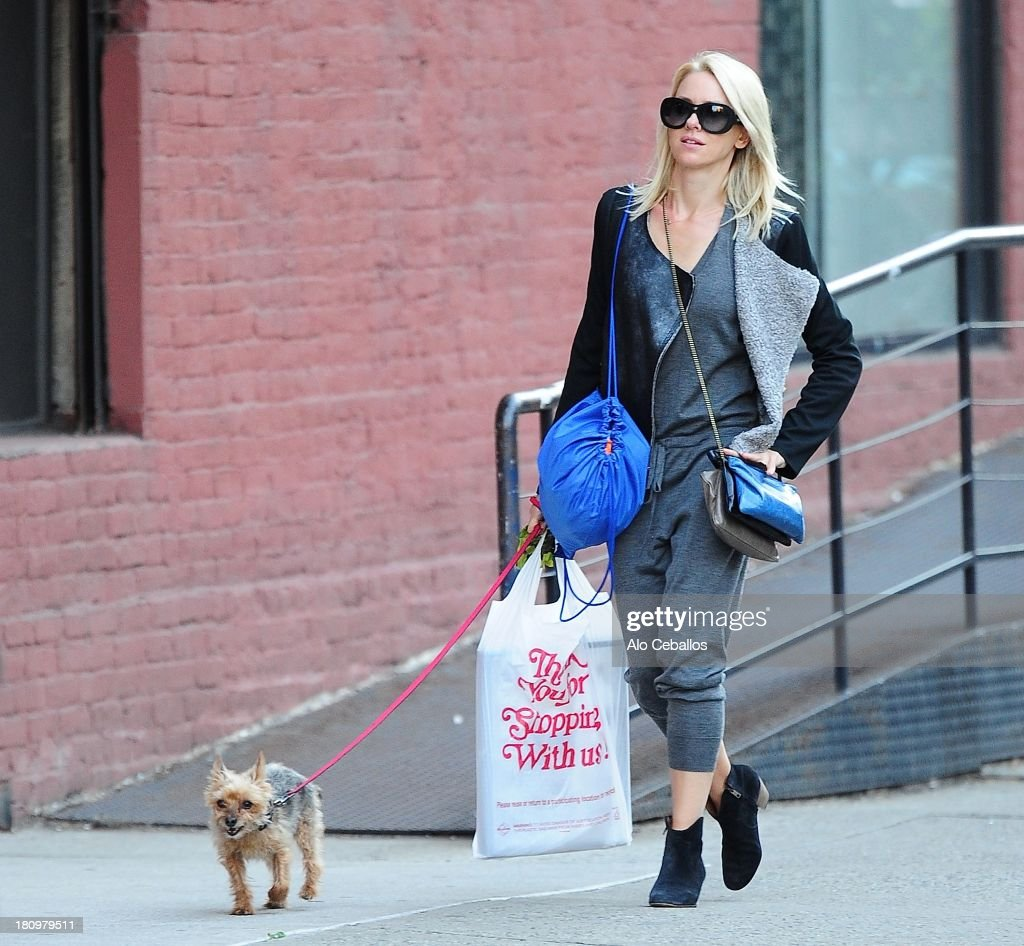 Naomi Watts is seen in Soho on September 18, 2013 in New York City.