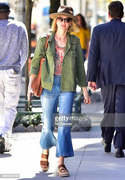 Naomi Watts is seen in Tribeca on April 18 2017 in New York City