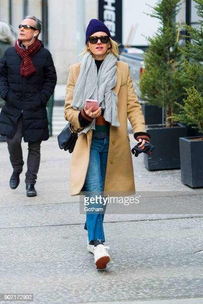 Naomi Watts is seen in Tribeca on January 19 2018 in New York City