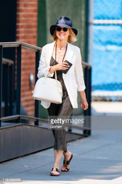 Naomi Watts is seen in Tribeca on July 29, 2019 in New York City.