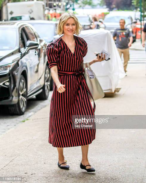 Naomi Watts is seen in TriBeCa on June 17 2019 in New York City