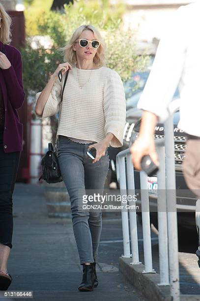 Naomi Watts is seen on February 29 2016 in Los Angeles California