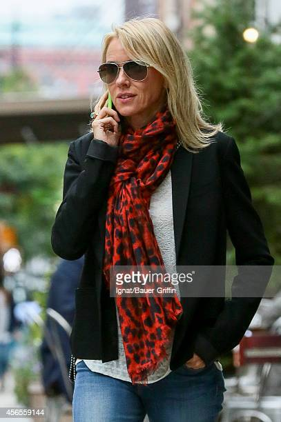 Naomi Watts is seen on October 02 2014 in New York City
