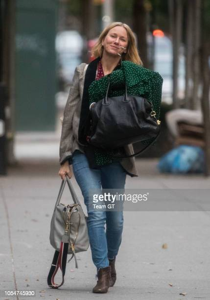 Naomi Watts is seen on October 28 2018 in New York City