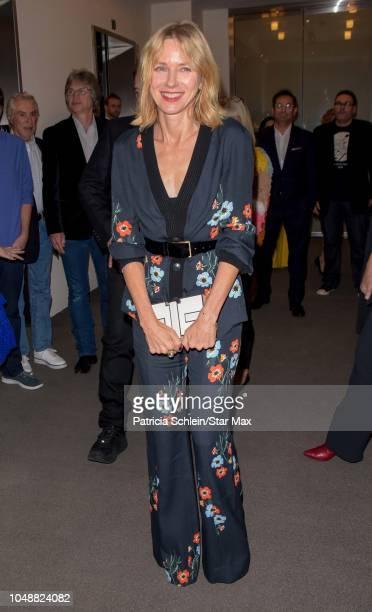 Naomi Watts is seen on October 9 2018 in New York City