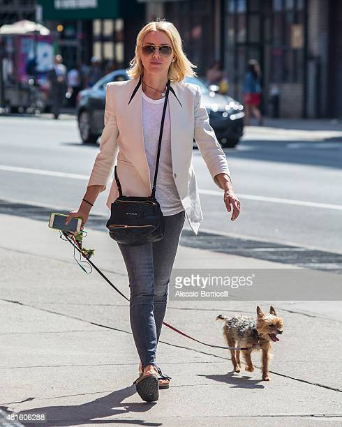 Naomi Watts is seen walking her dog in East Village on July 22 2015 in New York City