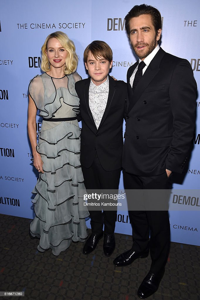 Naomi Watts, Judah Lewis, and Jake Gyllenhaal attend a screening of 'Demolition' hosted by Fox Searchlight Pictures with the Cinema Society at the SVA Theater on March 21, 2016 in New York City.