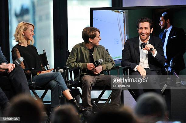 """Naomi Watts, Judah Lewis, and Jake Gyllenhaal attend the AOL Build Speaker Series to discuss """"Demolition"""" at AOL Studios In New York on March 22,..."""