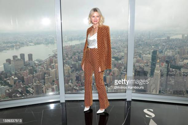 Naomi Watts kicks off New York Fashion Week at The Empire State Building on September 09, 2021 in New York City.