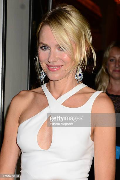 Naomi Watts leaves Claridge's hotel in Mayfair to head to the world film premiere of 'Diana' on September 5 2013 in London England