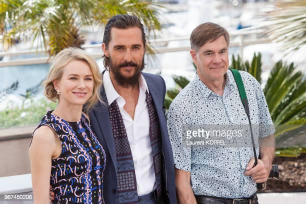 Naomi Watts Matthew McConaughey et Gus Van Sant lors du photocall du film La forêt des songes' pendant le 68eme Festival du Film Annuel au Palais des...