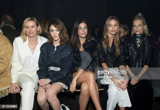 Naomi Watts Natalia Dyer Julia Restoin Roitfeld Martha Hunt and Poppy Delevingne attend the Zadig Voltaire fashion show during New York Fashion Week...