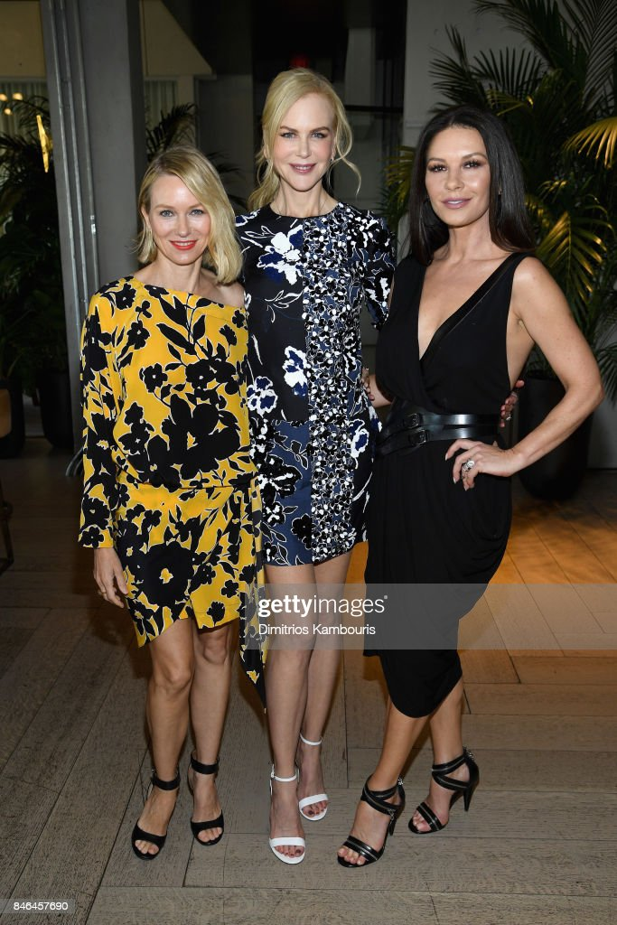 Naomi Watts, Nicole Kidman and Catherine Zeta-Jones pose backstage at Michael Kors Collection Spring 2018 Runway Show at Spring Studios on September 13, 2017 in New York City.