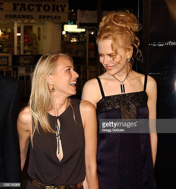 Naomi Watts Nicole Kidman during 'The Ring' Premiere at Mann Bruin Theatre in Westwood California United States