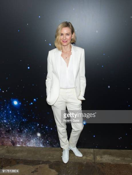 Naomi Watts poses backstage at the Zadig Voltaire fashion show during New York Fashion Week at Cedar Lake Studios on February 12 2018 in New York City