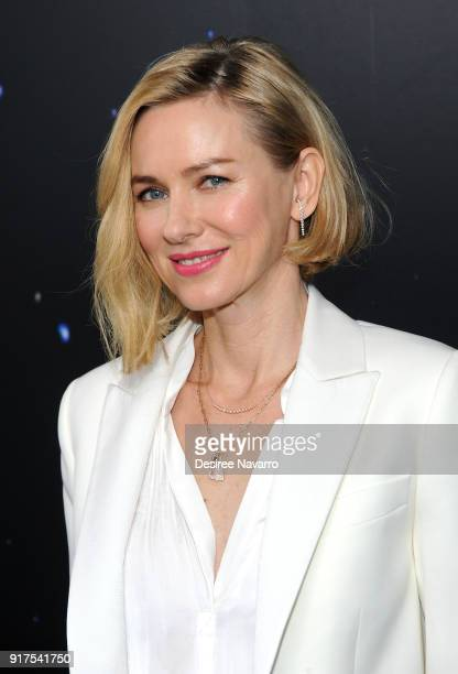 Naomi Watts poses backstage at the Zadig & Voltaire fashion show during New York Fashion Week at Cedar Lake Studios on February 12, 2018 in New York...