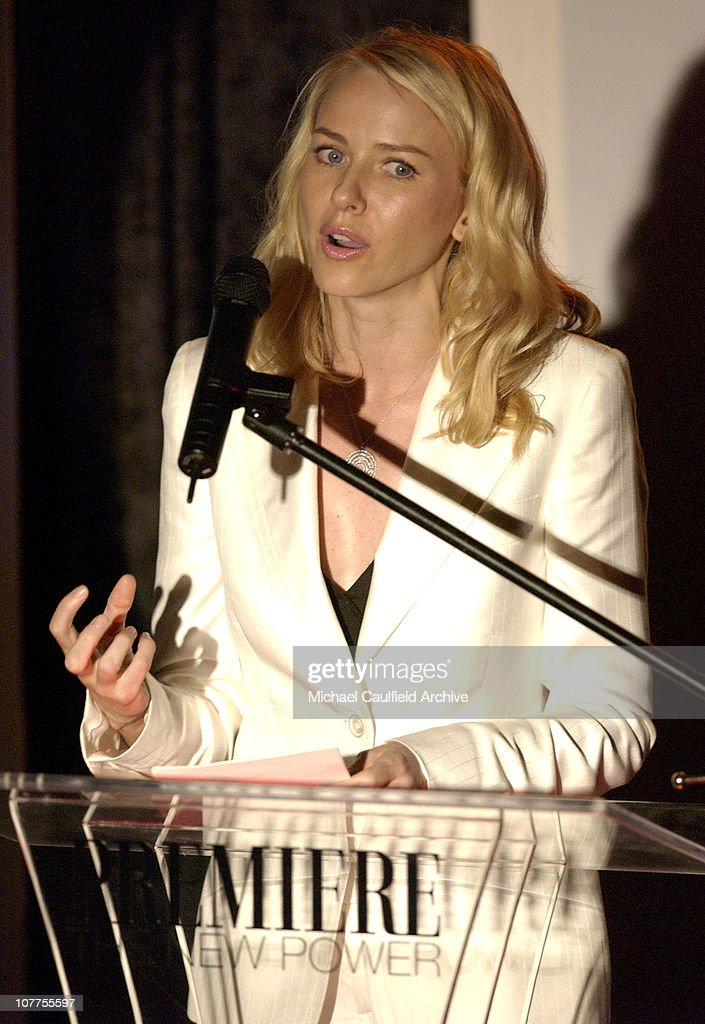 Naomi Watts presenting the award to Kate Hudson during Premiere Magazine's 'The New Power' - Show at Forbidden City in Hollywood, California, United States.