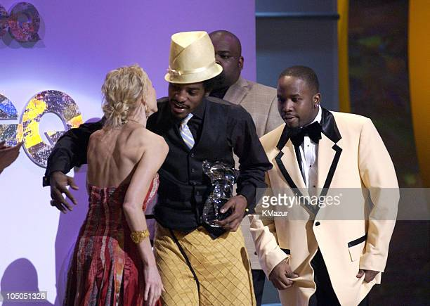 Naomi Watts presents OutKast with the Band of the Year Award