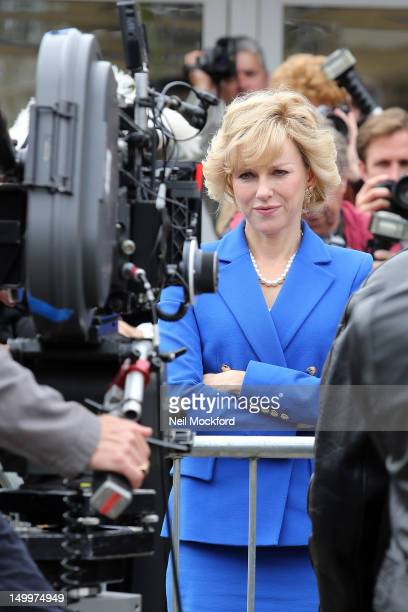 Naomi Watts seen on the set of the 'Diana' movie on August 8 2012 in London England