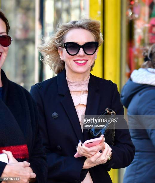 Naomi Watts seen on the streets of Manhattan on March 18 2018 in New York City
