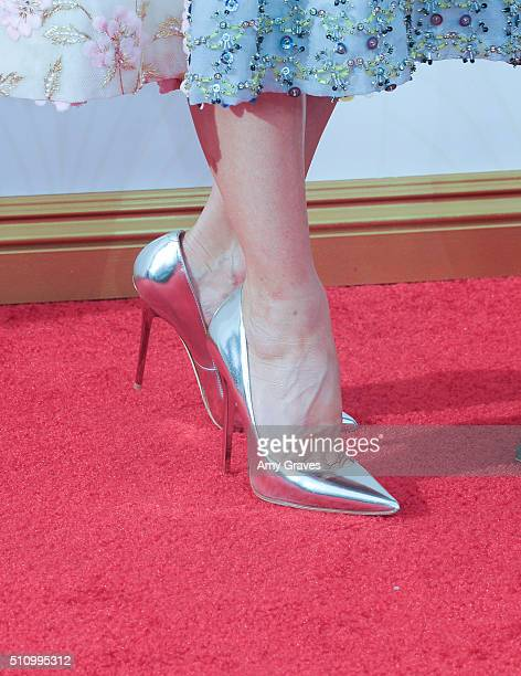Naomi Watts shoe detail attends the 67th Annual Primetime Emmy Awards on September 20 2015 in Los Angeles California