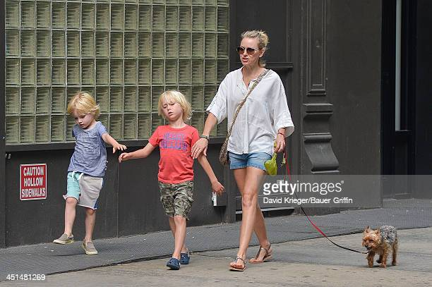 Naomi Watts sighting with sons Samuel Schreiber and Akexander Schreiber on June 17 2013 in New York City
