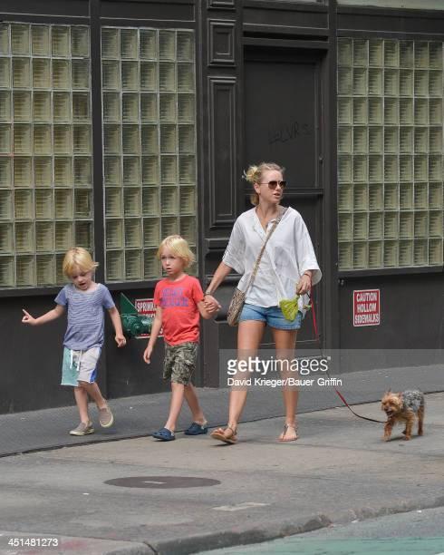 June 17: Naomi Watts sighting with sons, Samuel Schreiber and Akexander Schreiber on June 17, 2013 in New York City.