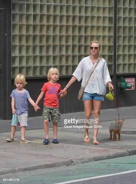 Naomi Watts sighting with sons Samuel Schreiber and Akexander Schreiber on June 17 2013 in New York City