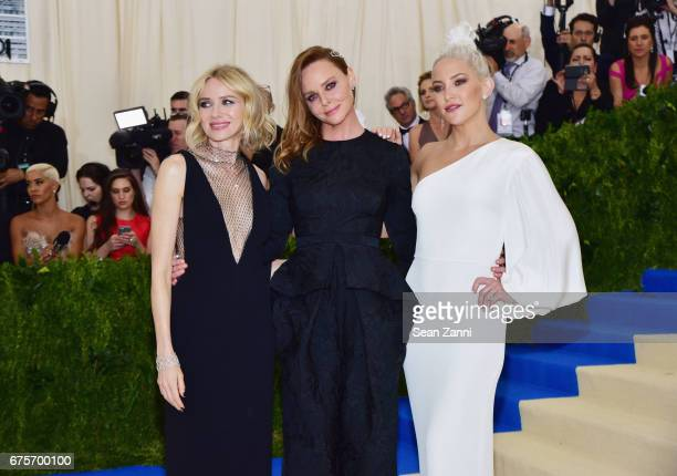 Naomi Watts Stella McCartney and Kate Hudson arrive at 'Rei Kawakubo/Comme des Garcons Art Of The InBetween' Costume Institute Gala at The...