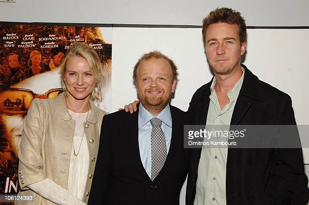 Naomi Watts Toby Jones and Edward Norton during 'Infamous' New York City Premiere Inside Arrivals at DGA Theater in New York City New York United...