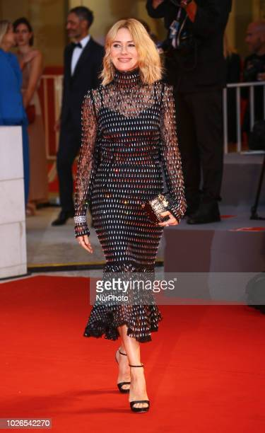 Naomi Watts walk the red carpet ahead of the 'At Eternity's Gate' screening during the 75th Venice Film Festival on September 3 2018 in Venice Italy