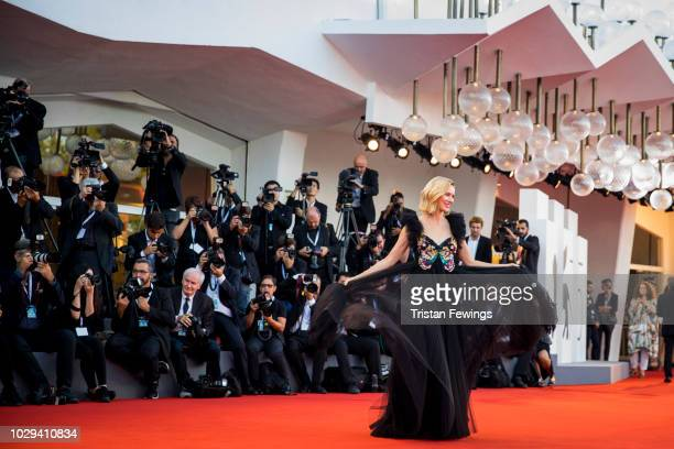 Naomi Watts walks the red carpet ahead of the Award Ceremony during the 75th Venice Film Festival at Sala Grande on September 8, 2018 in Venice,...