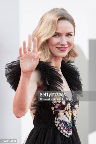 Naomi Watts walks the red carpet ahead of the Award Ceremony during the 75th Venice Film Festival at Sala Grande on September 8 2018 in Venice Italy