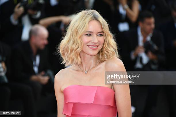 Naomi Watts walks the red carpet ahead of the opening ceremony and the 'First Man' screening during the 75th Venice Film Festival at Sala Grande on...