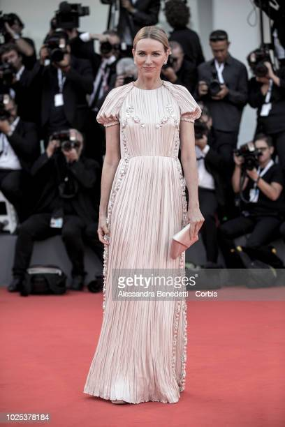 Naomi Watts walks the red carpet ahead of the 'Roma' screening during the 75th Venice Film Festival at Sala Grande on August 30, 2018 in Venice,...
