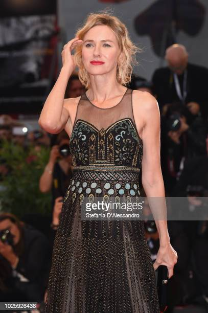 Naomi Watts walks the red carpet ahead of the 'Suspiria' screening during the 75th Venice Film Festival at Sala Grande on September 1 2018 in Venice...
