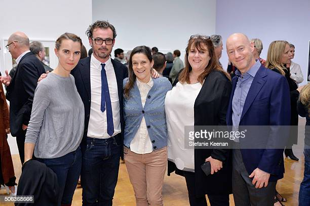 Naomi Wilding Aileen Getty and guests attend MOCA's Leadership Circle Members' Opening And Artist Dinner For Catherine Opie 700 Nimes Road at MOCA...