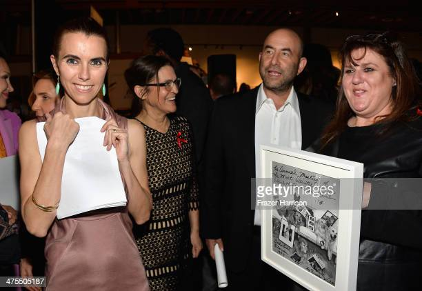 Naomi Wilding Aileen Getty Benny Weisberg and Barbara Berkowitz attend The Elizabeth Taylor AIDS Foundation Art Auction Benefit Presented By Wilding...